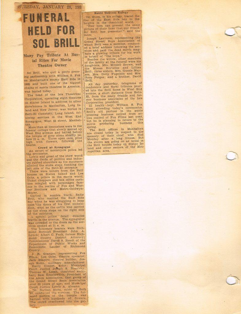 obit sol brill SI paper 3 18012016